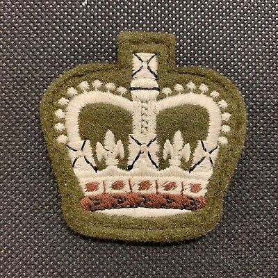 BRITISH ARMY ISSUE NO.2 KHAKI DRESS WARRANT OFFICER CLASS 2 SEW ON RANK PATCH UK